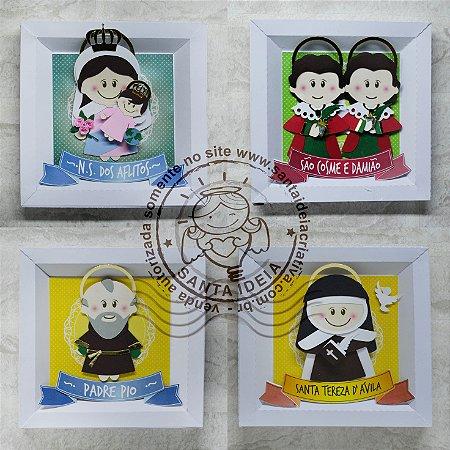KIT 13 - São Cosme e Damião, Nossa Senhora dos Aflitos, Santa Tereza Dávila, Padre Pio