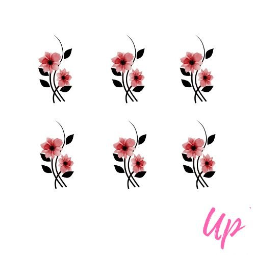 Pelicula de unhas tulipa rosa