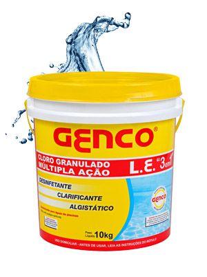 GENCO L.E. - Cloro Granulado Múltipla Ação 3 em 1
