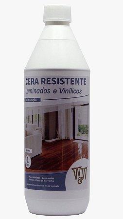 Cera Resistente W&W Piso Laminado e Vinilico Brilhante e Acetinada - 1L