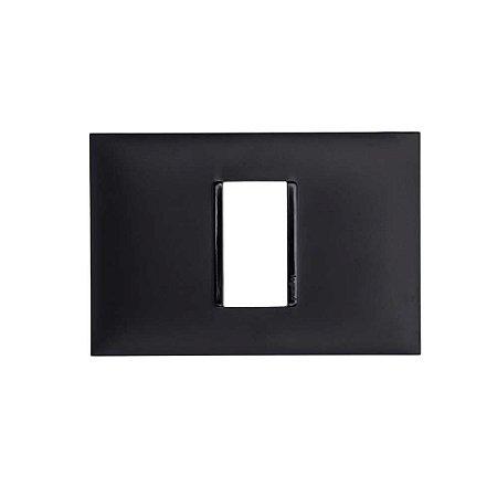 Placa PIAL Plus+ Preta 4X2 (1 Modulo Horizontal) 618501PT
