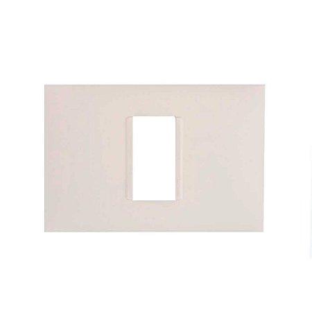 Placa PIAL Plus+ Br 4X2 (1 Modulo Horizontal) 618501BC