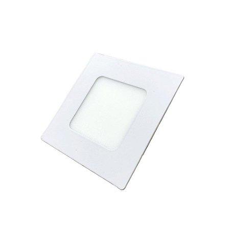 Luminária Led Plafon PERKON Embutir Quadrado 3W 3000K 8CM