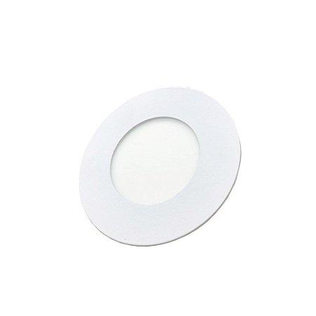 Luminária Led Plafon PERKON Embutir Redondo 3W 3000K 8CM