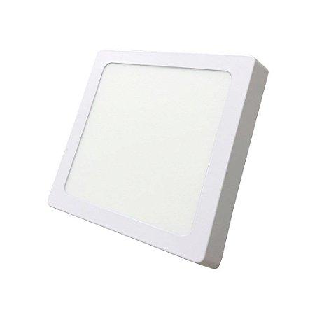 Luminária Led Plafon Externo Quadrado 12W 3000K 17CM