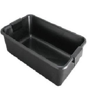 Caixa Plástica p/ Massa Concreto Pvc 40l Zumplast Preta