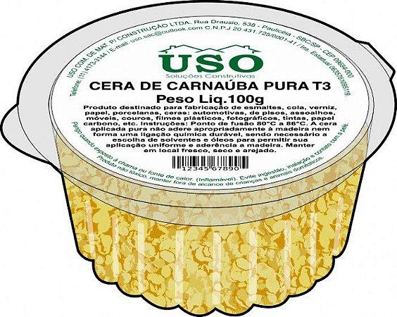 Cera De Carnauba Pura T3 100gr (pote) - 6 potes