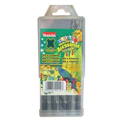 Brocas Makita Sds Plus Para Concreto Jogo 5 Peças 5 a 8mm