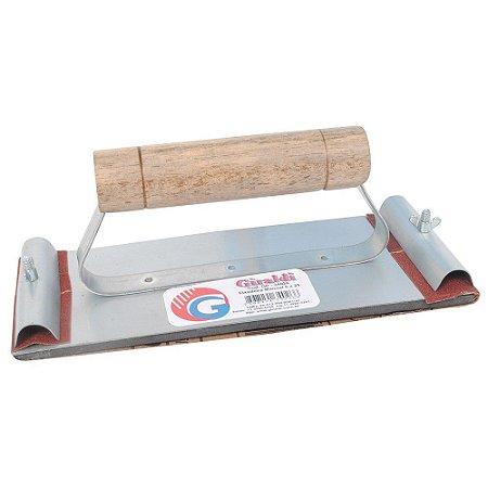 Lixadeira Manual De Aço Com Lixa Giraldi 8cm X 21cm