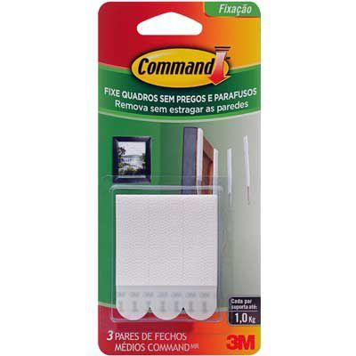 Fecho Adesivo p/ Quadros (Command) M Branco 3M 328-A c/ 3 UN