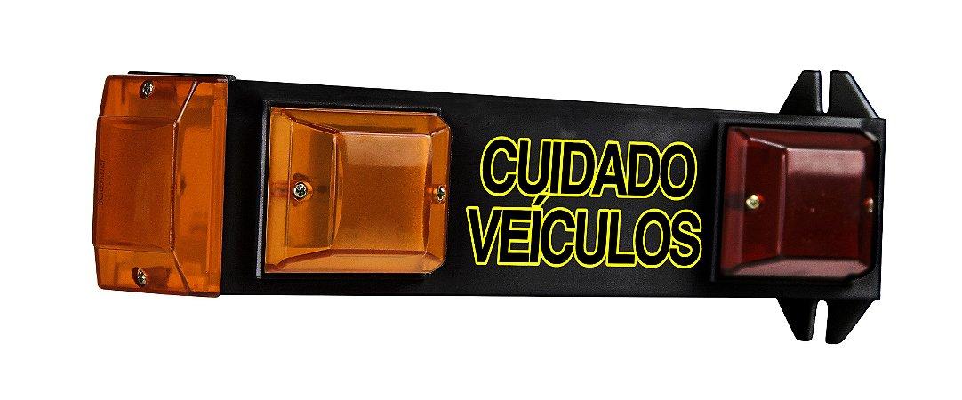 Sinalizador Led Garagem Biv. 110/220V Techna Preto ou Branco