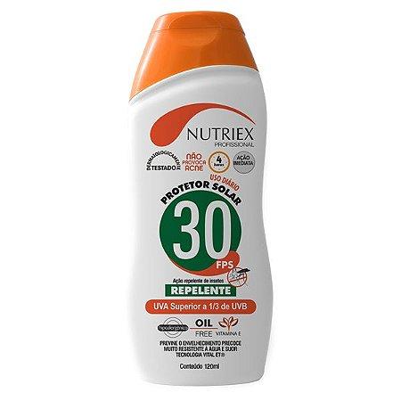 Protetor Solar 30FPS c/ Repelente Oil Free 120ml Nutriex