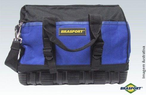 Bolsa De Ferramentas 23 bolsos c/ Base De Borracha Brasfort 7563