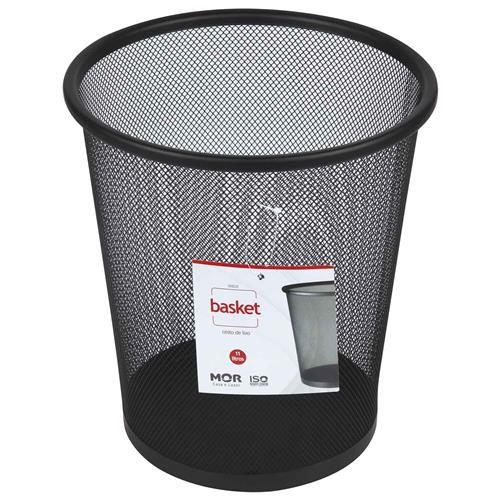 Cesto De Lixo Basket Aço 11 Litros Preto MOR