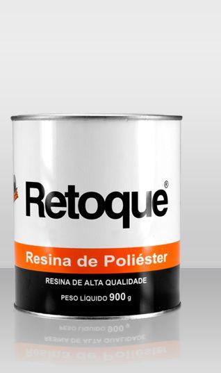 """Resina De Poliester P/ Laminação 900gr Retoque 1/4"""""""