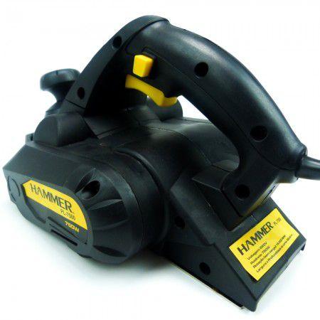 Plaina Elétrica 750w 100% Rolamentada Hammer 110V  Pl7500