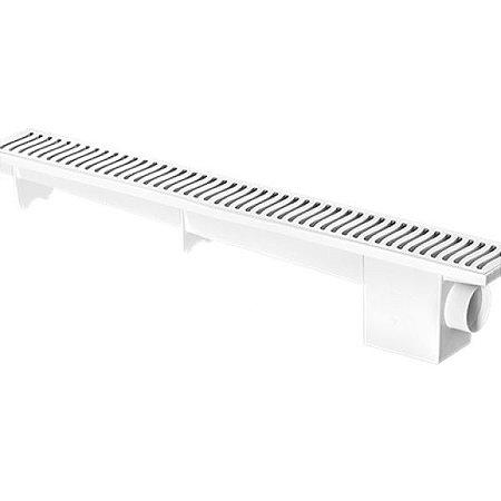 Ralo Linear Modulável Sifonado 70cm Branco - HERC