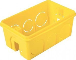 Caixinha De Luz 4x2 Tramontina Amarelo 25 Peças