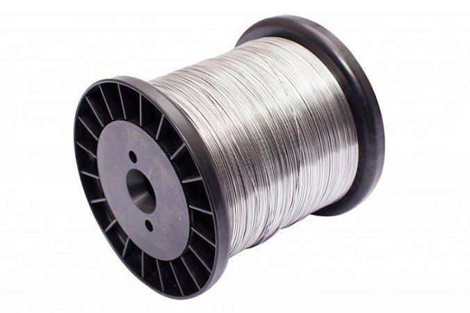Carretel Arame Cerca Elétrica Aço Inox 0,60mm Bobina 350mt