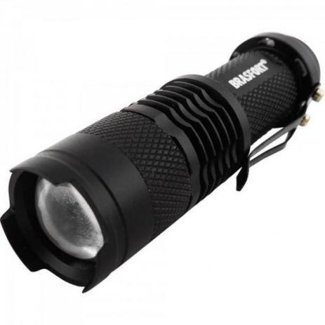 Lanterna Led Aluminio Com Zoom Brasfort 7866