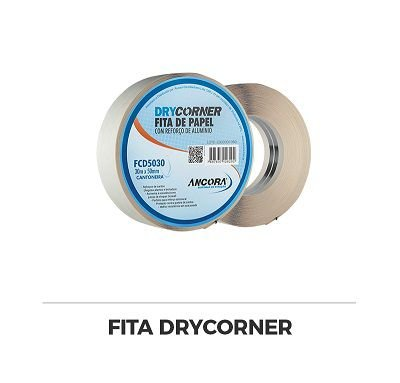Fita P/ Drywal C/ Reforço De Aluminio 50mm X 30mt Ancora
