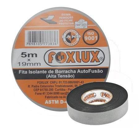 Fita Isolante Auto Fusão 5m X 19mm Foxlux