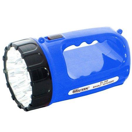 Lanterna Recarregável Com 15 Leds Bivolt (110v/220v) Western EL344