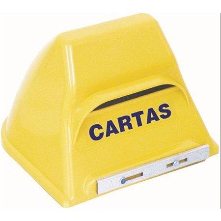 Caixa Cartas Correio Plástica Amarelo ENERLUX
