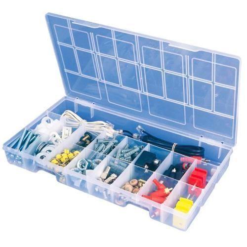 Caixa Organizadora Plástico Transp. 33,5x19,5x4 119