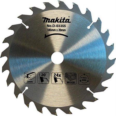 Disco Serra Circular 185mm X 24dentes F:20mm 355 Makita