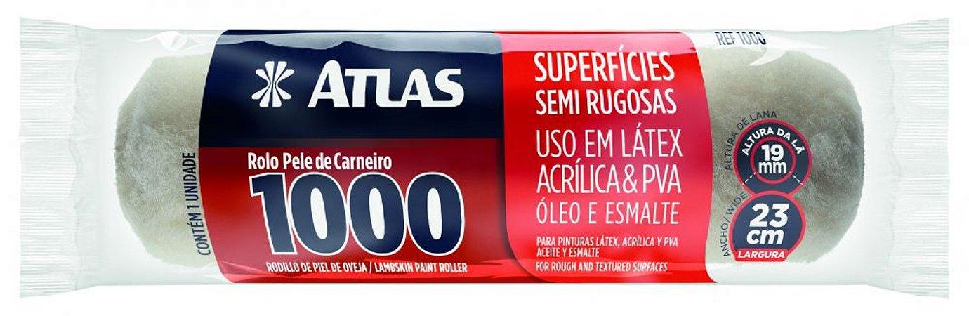 Rolo de Pele de Carneiro 23cm para Pintura s/ Garfo - ATLAS-1000