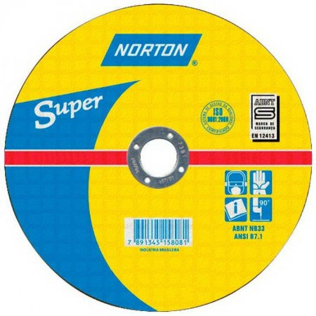 "Disco de corte Ferro 10"" x 1/8"" x 3/4"" AR312 Norton"