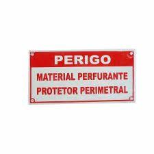 Placa Aviso Cerca Material Perfurante