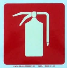 "Placa Sinalizacao ""Extintor Incendio"" Fluorescente PVC 15x15"