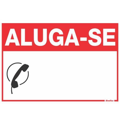 """Placa Sinalizacao """"ALUGA-SE"""" Fluorescente PVC 20x30"""
