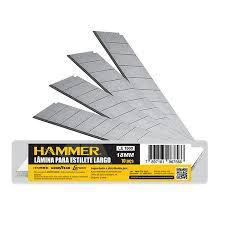 100cx Lamina de Estilete Largo 18mm 10 peças Hammer