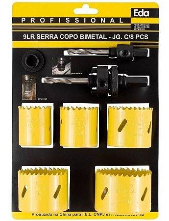 """Serra Copo Multi Uso Jogo c/ 8 Peças 1.1/2 a 2.1/2"""" EDA"""