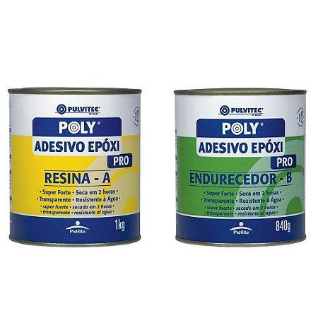Adesivo Epóxi Pulvitec 2h 1,8kg Resina + Endurecedor