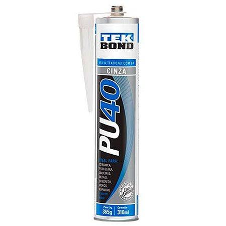 Cola Pu 40 Tekbond Cinza Silicone Selante 420gr