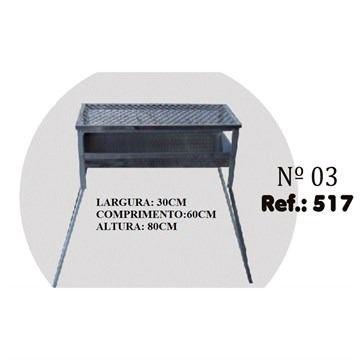 Churrasqueira Chapa Riskgas N.3 30x60x80cm ref 517