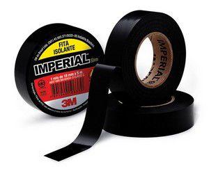 Fita Isolante Imperial® Preta - 18 mm x 5 mt - 3M 10rl