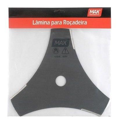 Lamina Roçadeira 3 Pontas MAX 35cm Furo 20mm