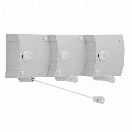 Varal Automático 3 cordonetes reguláveis Maxeb 6,0mt