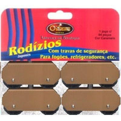 Pé de Geladeira e Fogão Chapa OVERTIME Caramelo c/ 4 peças