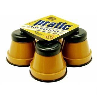 Pé de Geladeira e Fogão Redondo PRATIC Caramelo 4 peças