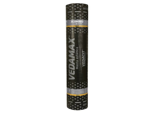 Manta Asfáltica VEDAMAX c/ Alumínio 3mm 10mt