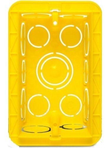 Caixinha De Luz p/ Tomada Interruptor 4x2 Pial Amarelo 32 peças