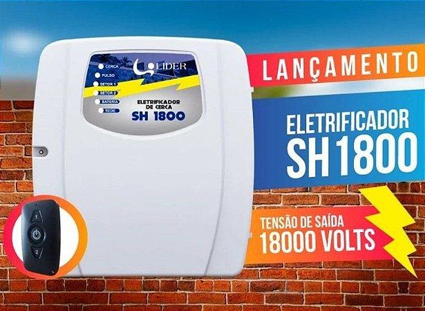 Eletrificador Central de Choque e Alarme LIDER SH1800 Bivolt