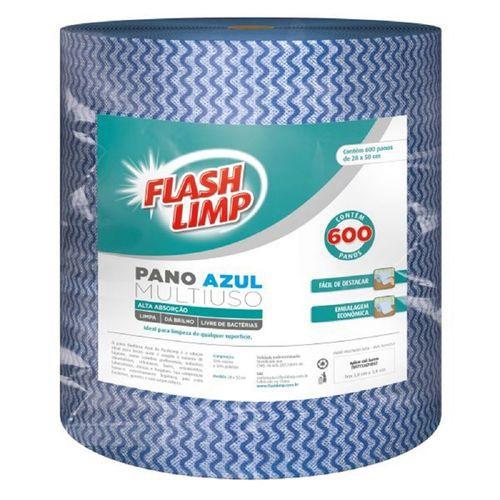 Pano p/ Limpeza Flashlimp Mult. Azul rolo c/ 600peças