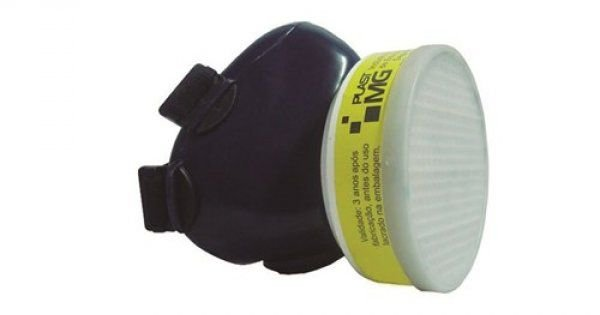 Respirador Semi Facial c/ Filtro Rosca PLASTCOR
